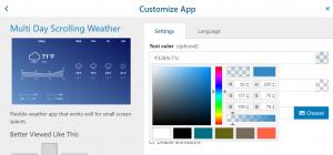 OnSign TV Weather App customization