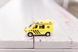 An ambulance toy