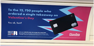 An example of a humorous outdoor ad: Revolut