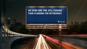An example of using humor in Out-of-Home billboards