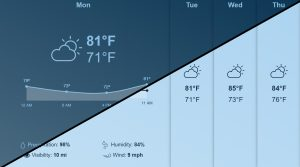 OnSign TV weather app day/night comparison