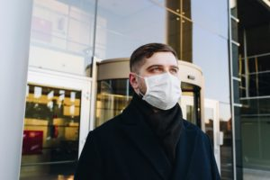 A man wearing a medical mask