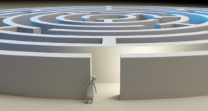 Una ilustración de un laberinto