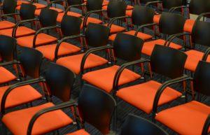 Empty seats at an amphitheater