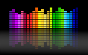 A colorful visual preview of audio