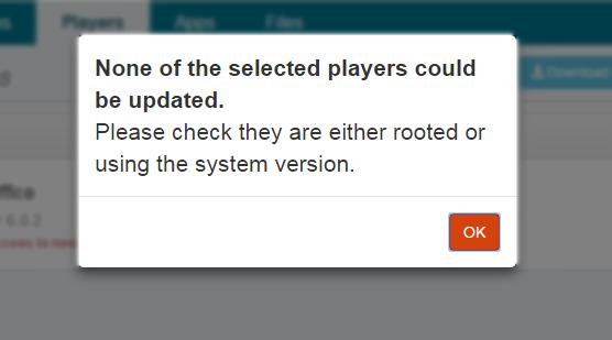 1 update error