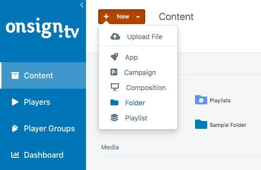 1. create folder button