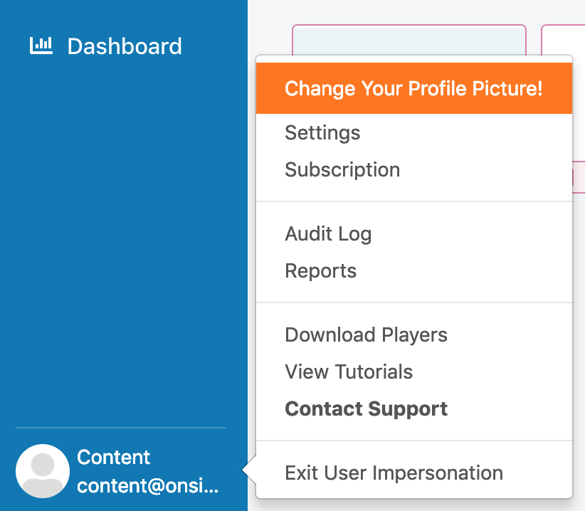 change personal user info direction