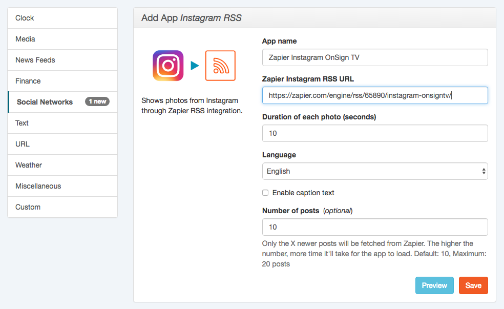 2-configure-instagram-rss-app