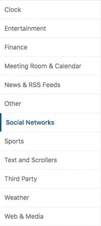 2. Click on social network