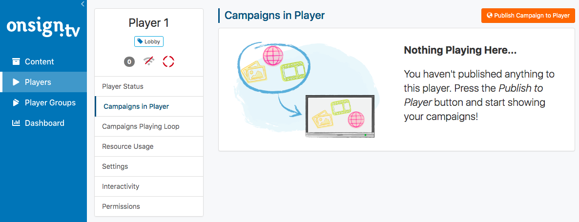 2. publish campaign to player