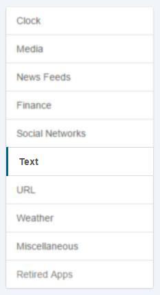 2. text option