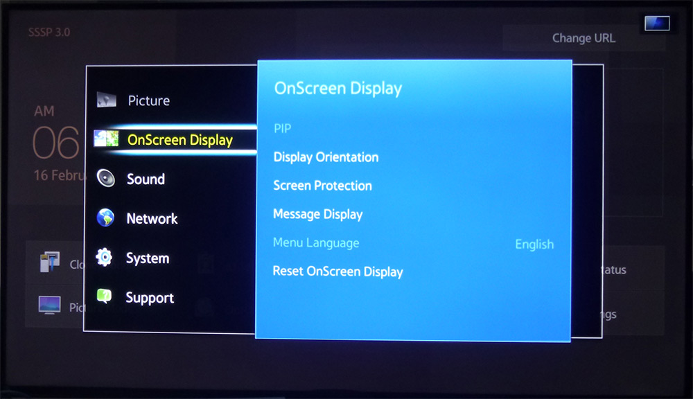 2.onscreen display