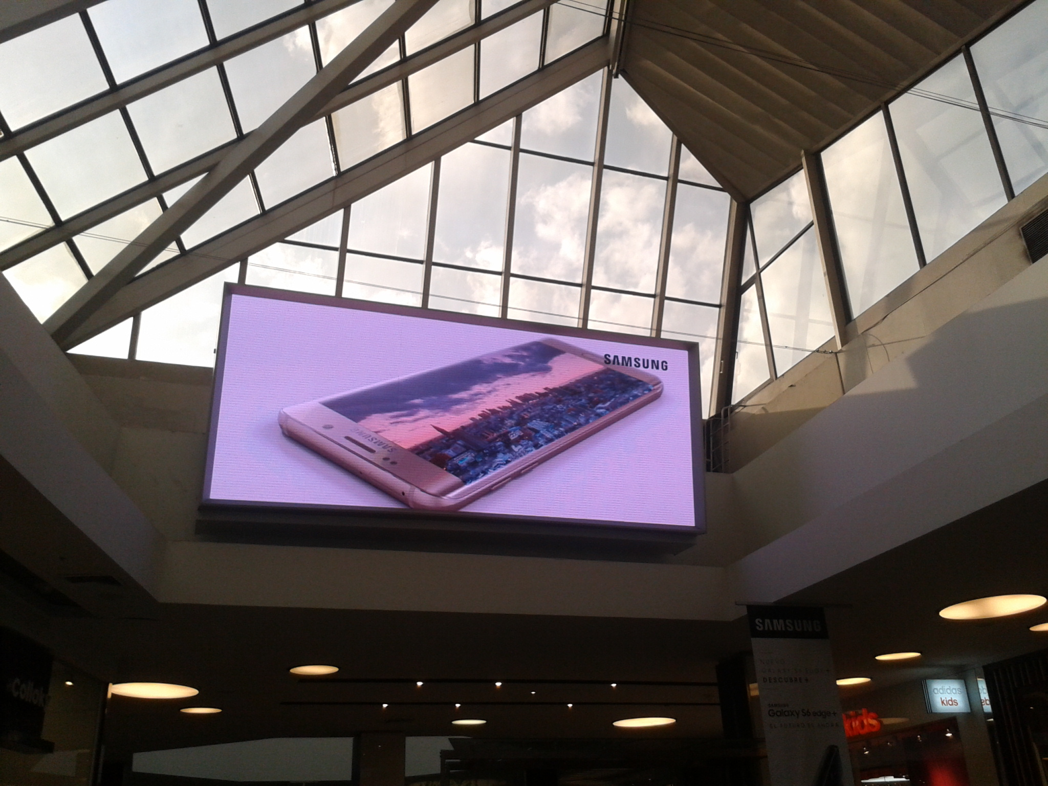 Digital signage mistake: large ad