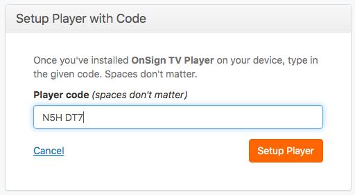 enter code connect a player