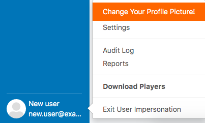 3. exit user impersonation
