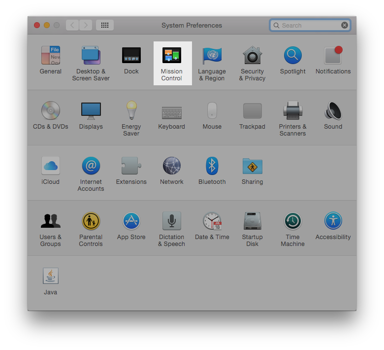 3. Mac mission control