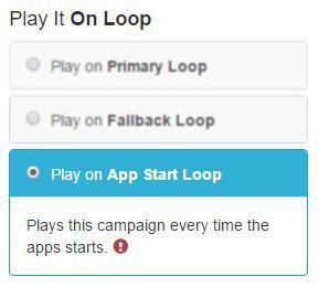3. set filter play on start loop