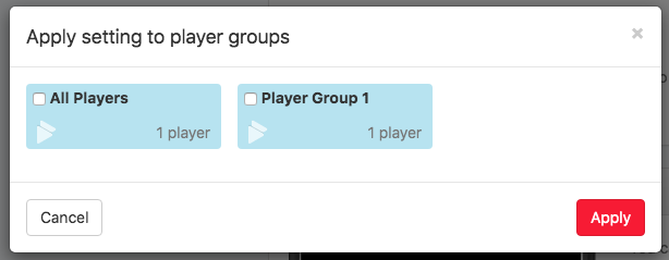 4. select group of players