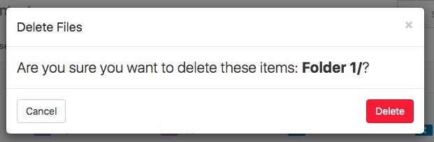 6. delete folder