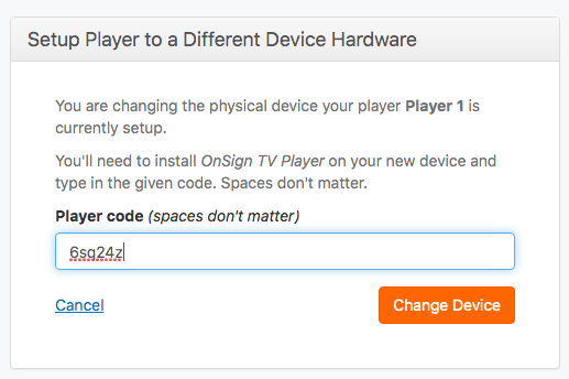 6. insert code to change device