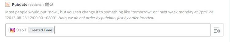 9. Pubdate what happens when you paste