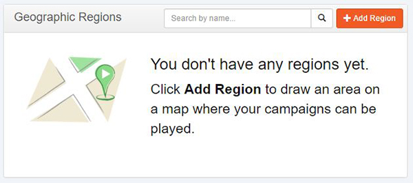 Add region button