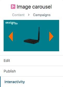 Click on interactivity