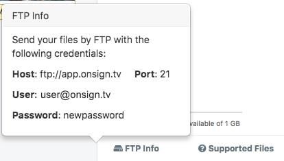 FTP info