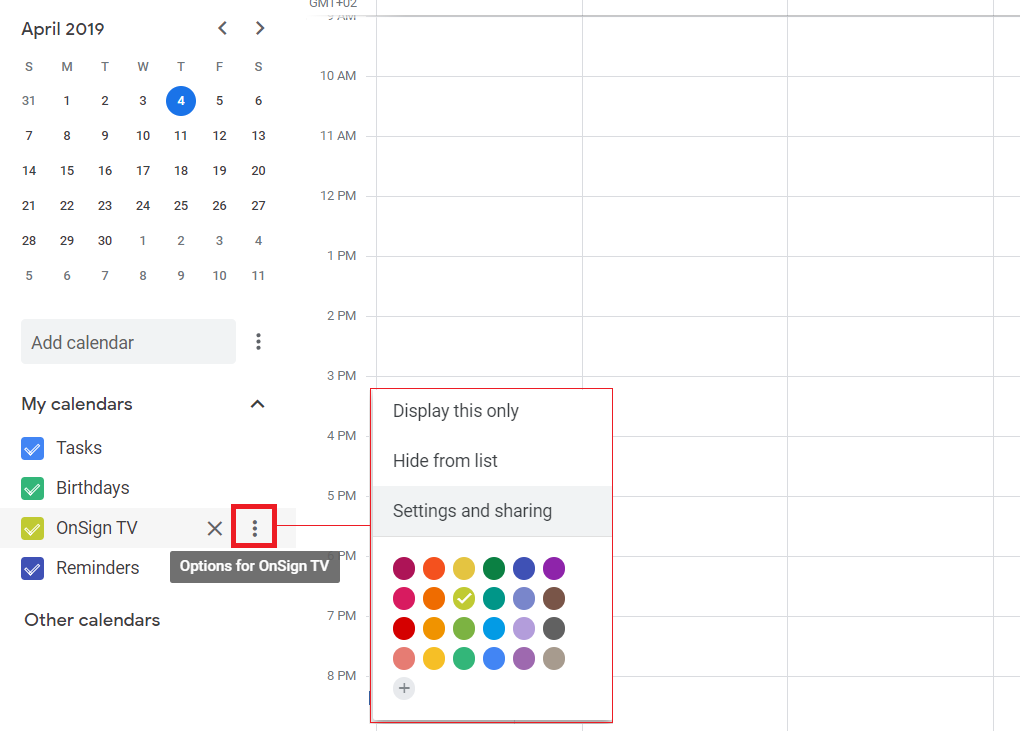1. google calendar