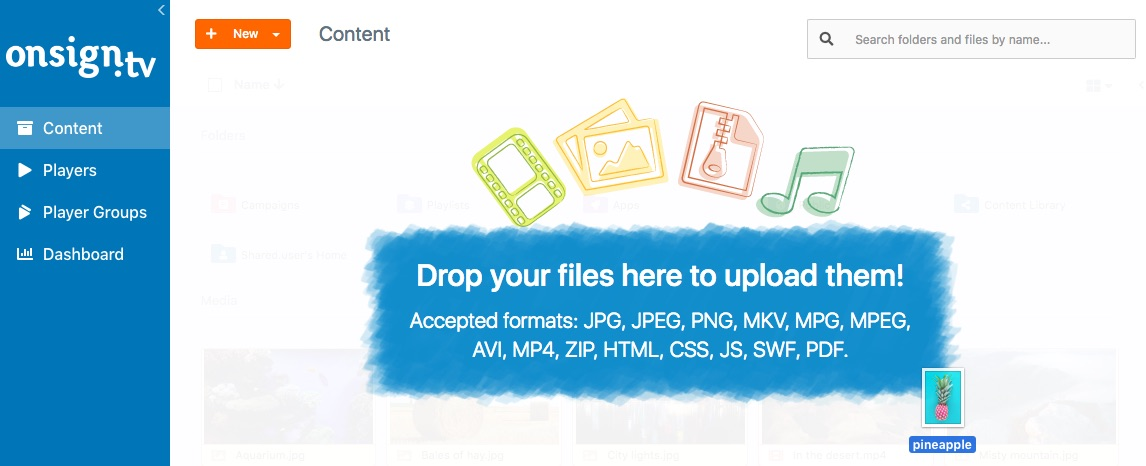 How to upload media files 2