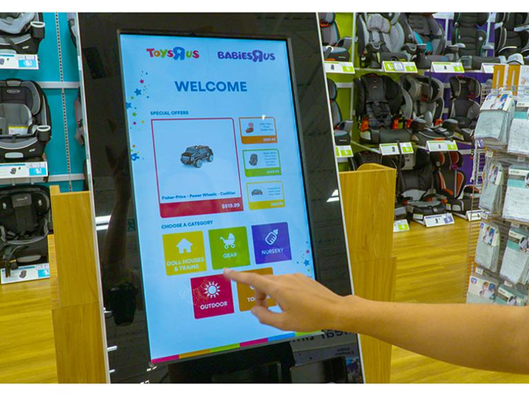 Toys R Us Digital Signage interactive display