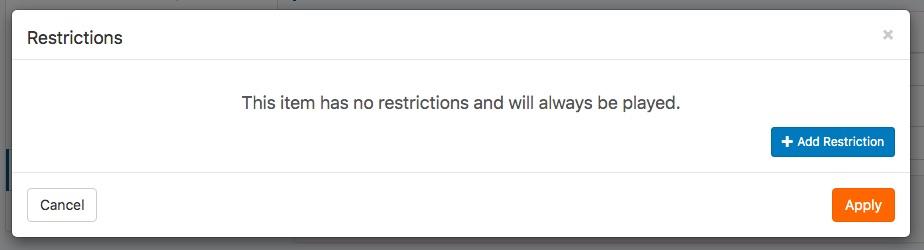 adicionar restrição
