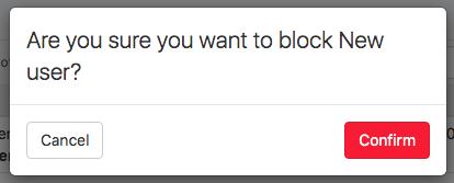 blocking confirmation