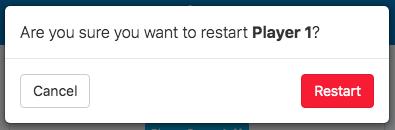 confirm restart app