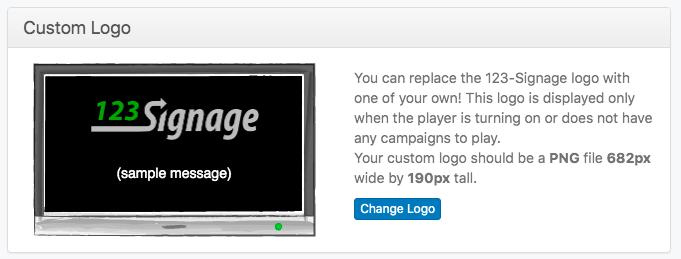 custom logo 123 signage