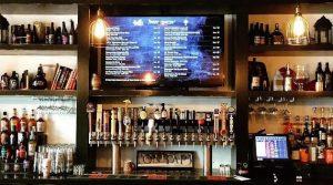 Digital signage in bars
