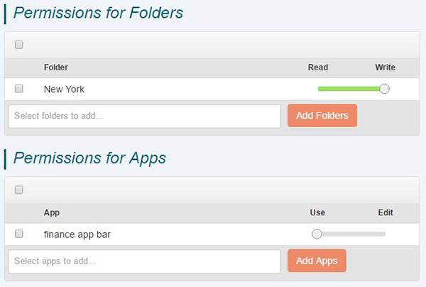 file and app permissions