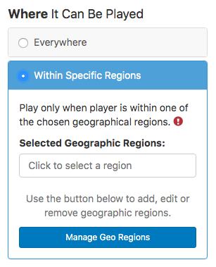 georegion within specific region