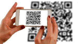 Preview of a QR code as a solution for touchless interaction