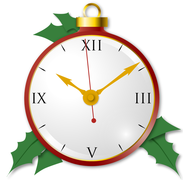 holiday layout clock apps