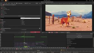 Blender editing software