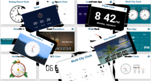 A selection of clock apps for digital signage