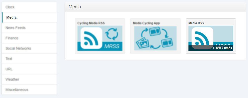media RSS app