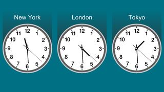 multi city round layout clock apps