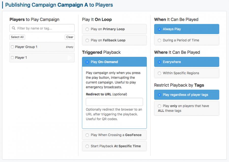 publish campaign on demand