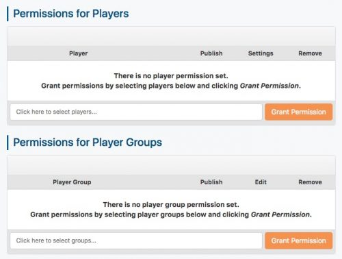 permissions for players