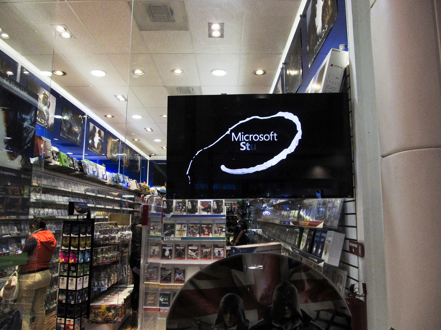 Small business digital signage - Game shop
