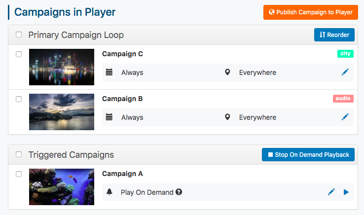 unpublish campaigns confirmation