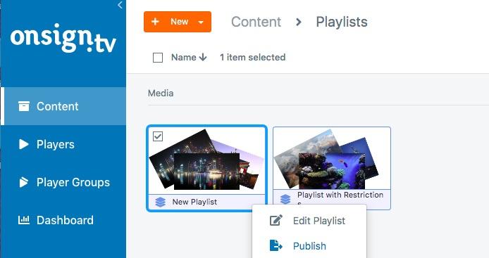 publish campaign playlist 1